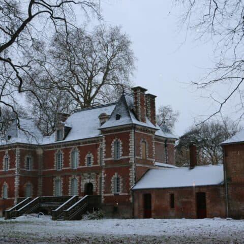 Le Château de Penthièvre sous la neige